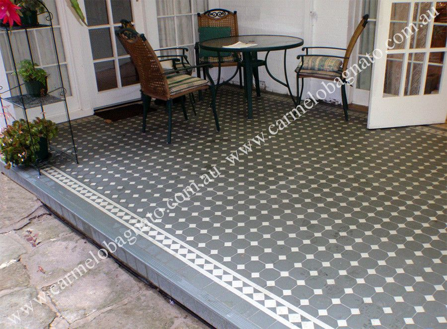 Tessellated Tiled Patio With Step Treads And Riser.   Carmelo Bagnato Pty