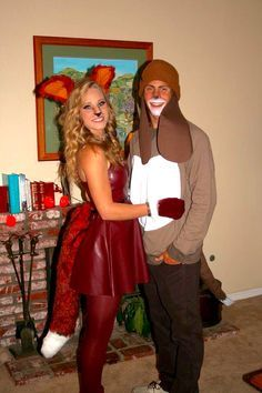 adorable couples costume the fox and the hound adorable. Black Bedroom Furniture Sets. Home Design Ideas