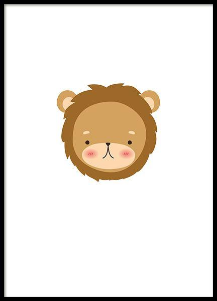 poster fur kinderzimmer, plakat für kinder mit einem kleinen löwen. perfekt für das, Design ideen