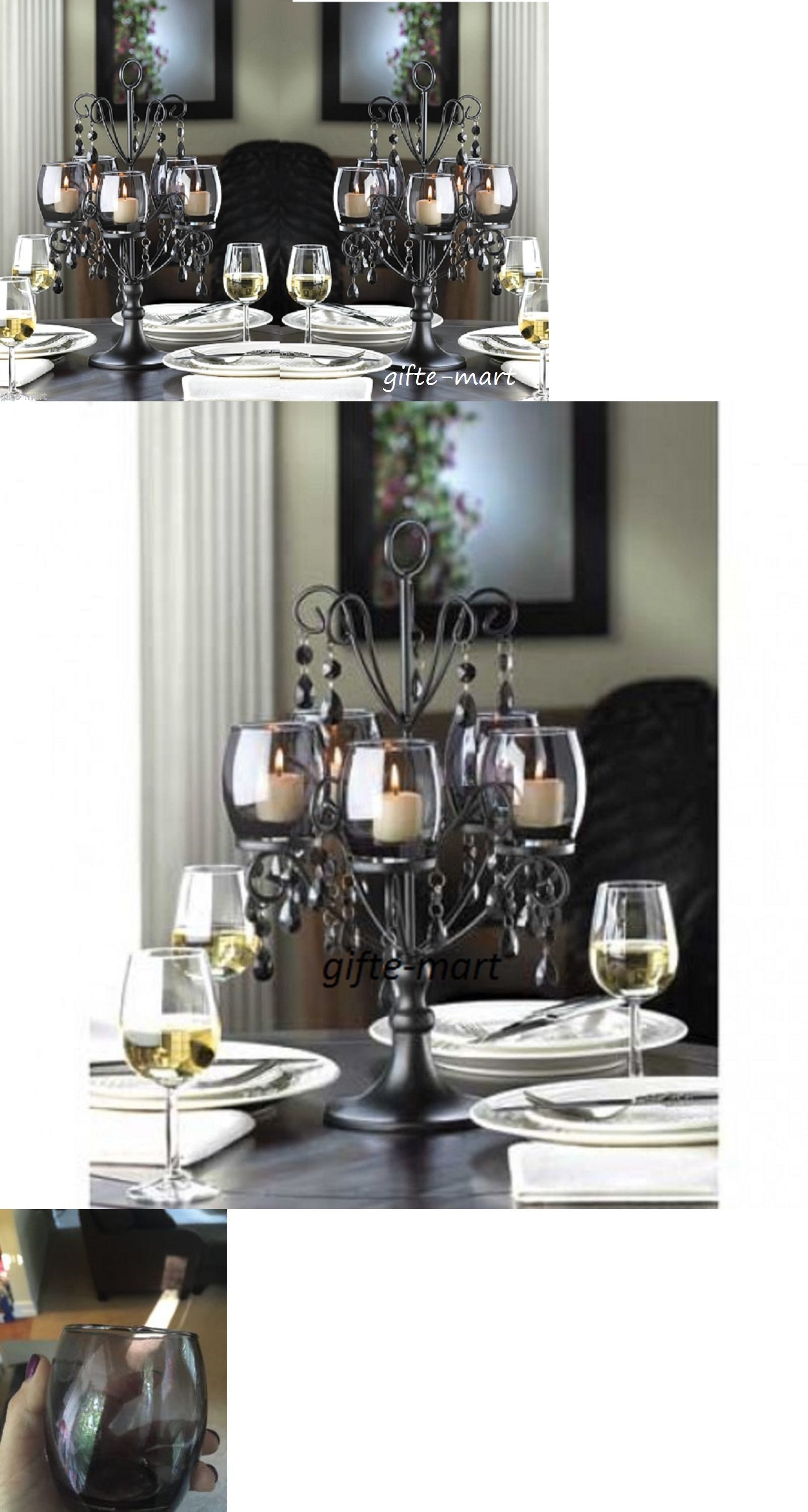 candles and candle holders 20936 9 large 17 tall black chandelier rh pinterest com large centerpiece candle holder