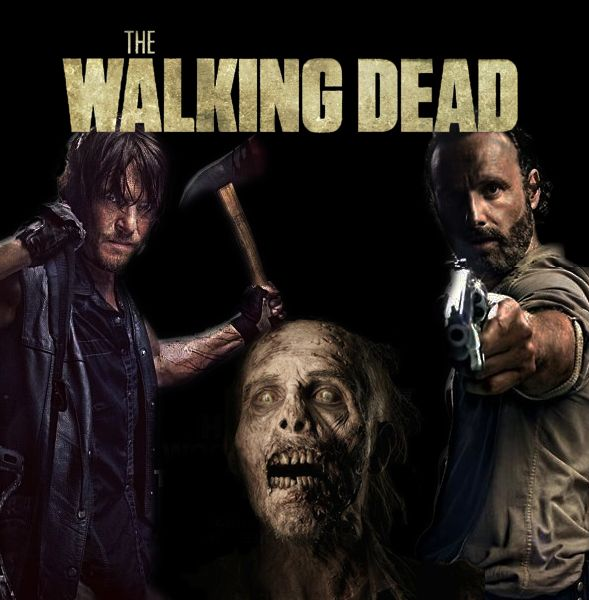 Daryl and Rick about to kill a walker | The Walking Dead ...
