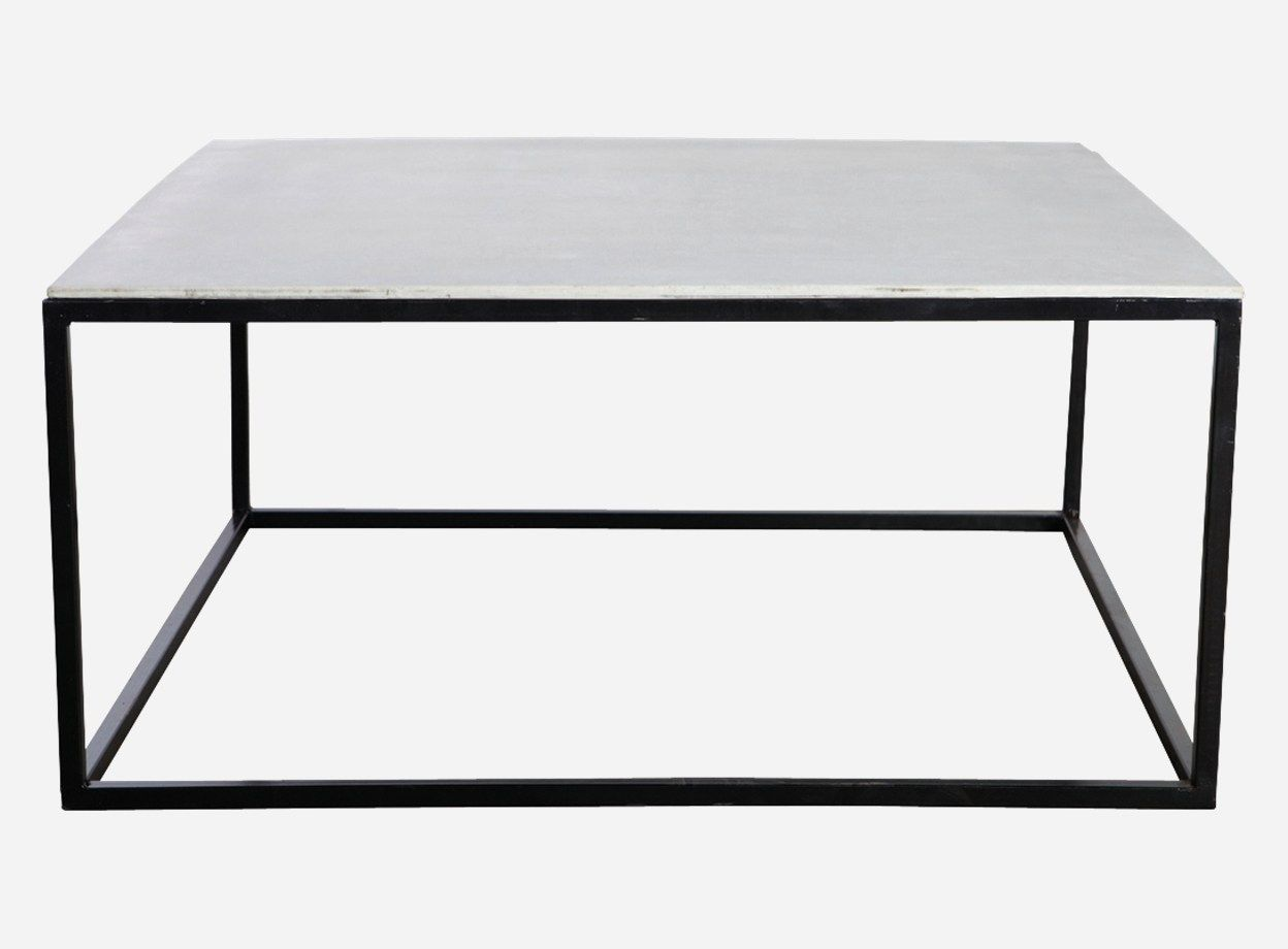 House Doctor Couchtisch Table W Concrete Table Top H 45 Cm 100x100 Cm Matt Black