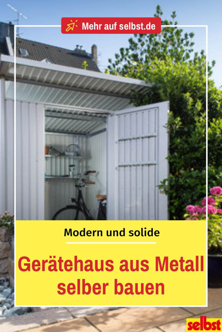 Geratehaus Metall Selbst De Gartenhaus Metall Metallschuppen Gartenhaus Pultdach