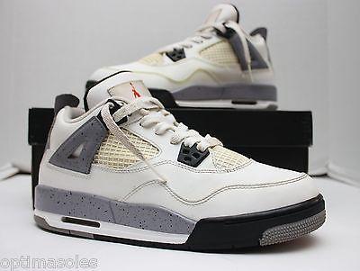 quality design 20a82 b8aee Nike Air Jordan 4 IV Retro Size 6.5y - White Cement Grey Black - 408452 103