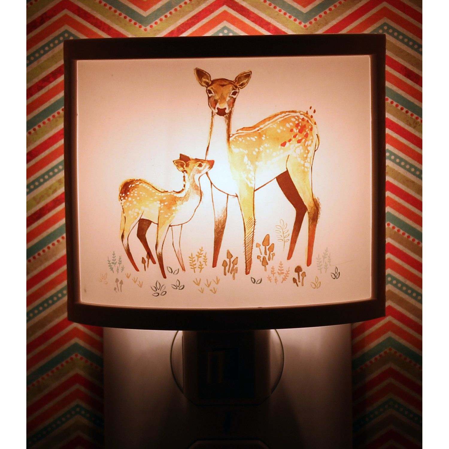 Common Rebels Fawn and Doe Night Light
