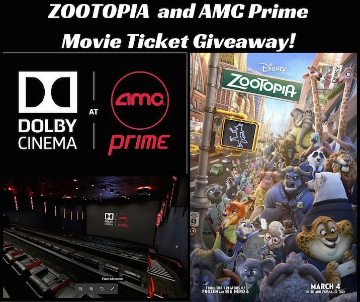 Win 8 Zootopia Tickets To Amc 24 Willowbrook Shareamc Prime Movies Movie Tickets Zootopia