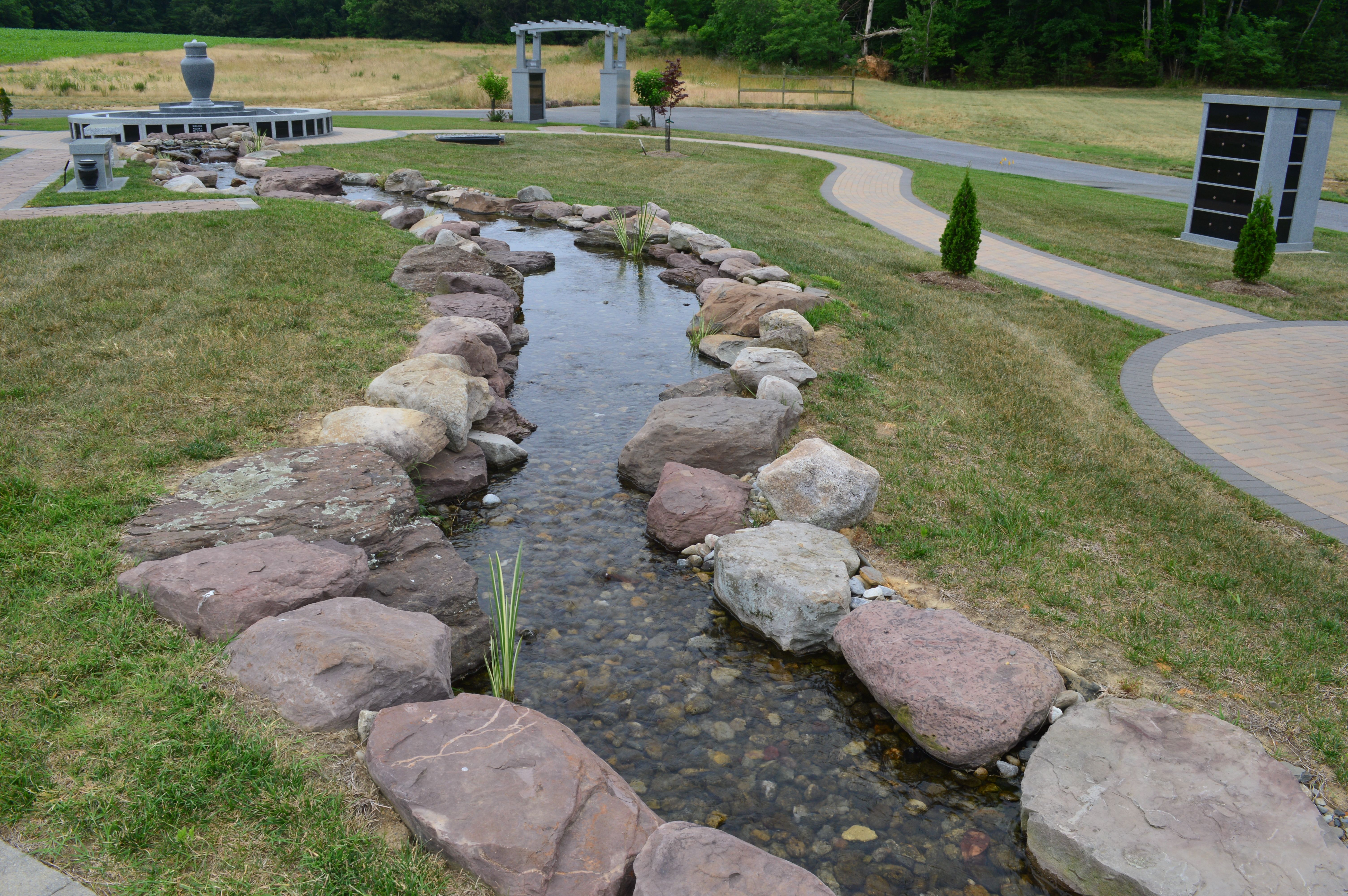The Project Consists Of An Aquascape Inc. Ecosystem Pond With Streams  Surrounded By Pennsylvania Fieldstone