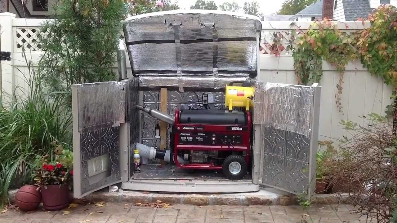 Outdoor Soundproof Enclosure For Portable Generator