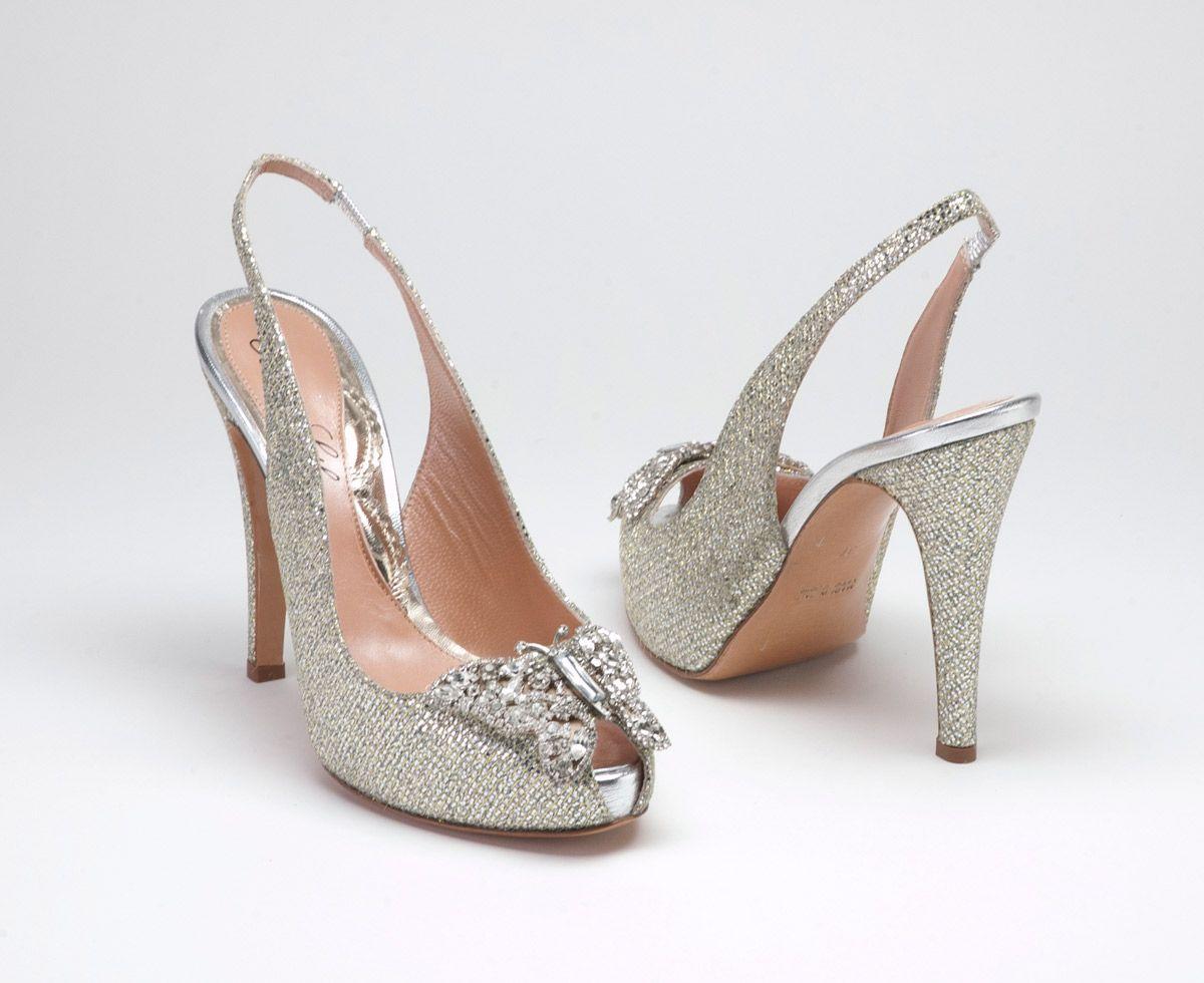 Erfly Theme Ideas Farfalla Crystal Slingback Shoes By Aruna