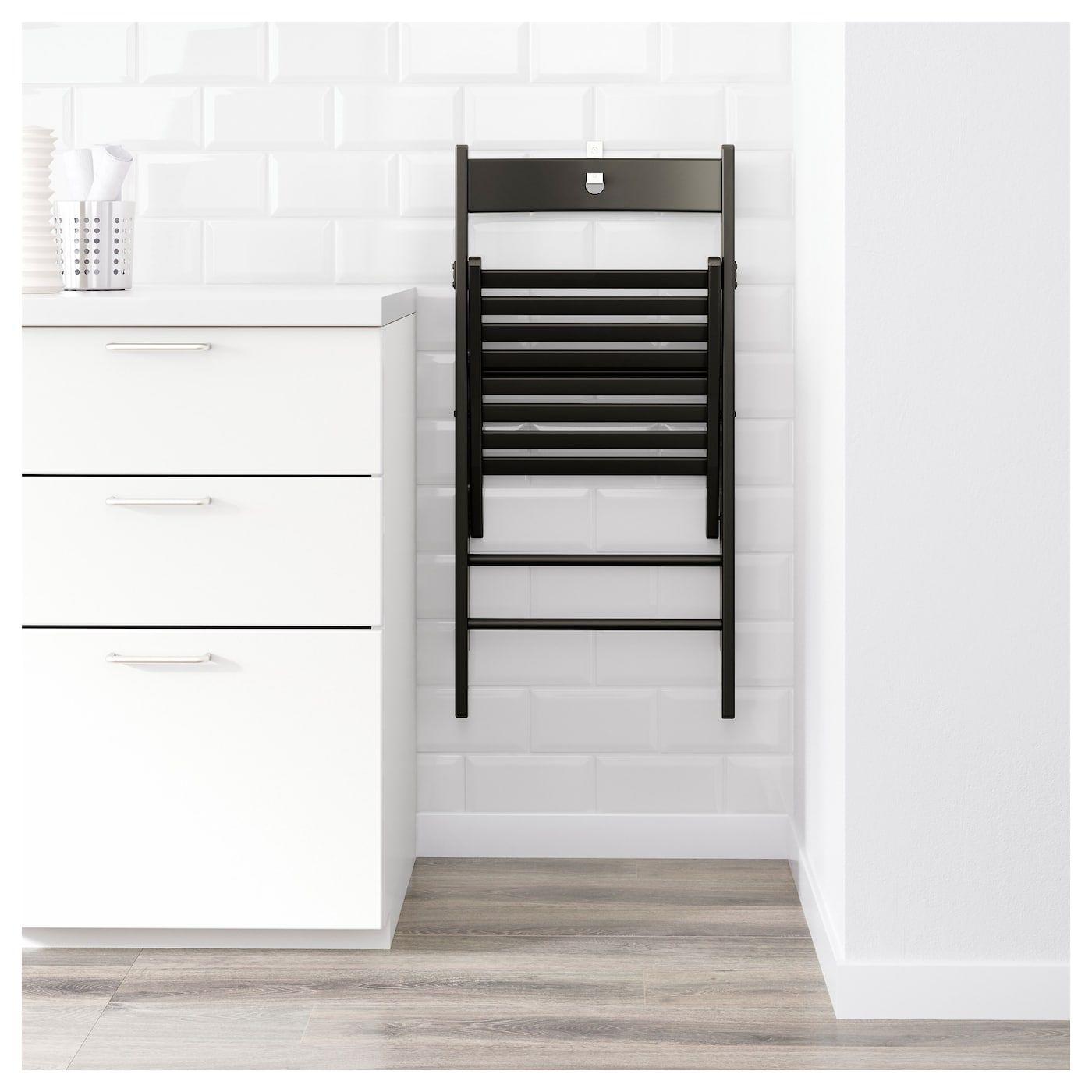 TERJE Klappstol, svart - IKEA  Chaise pliante, Ikea, Chaise