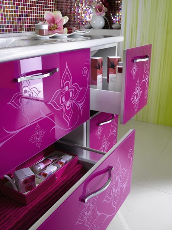 Glamourous Room Decor | Glamorous Bathroom Furniture Design For Cool Girls  Room Decorating .