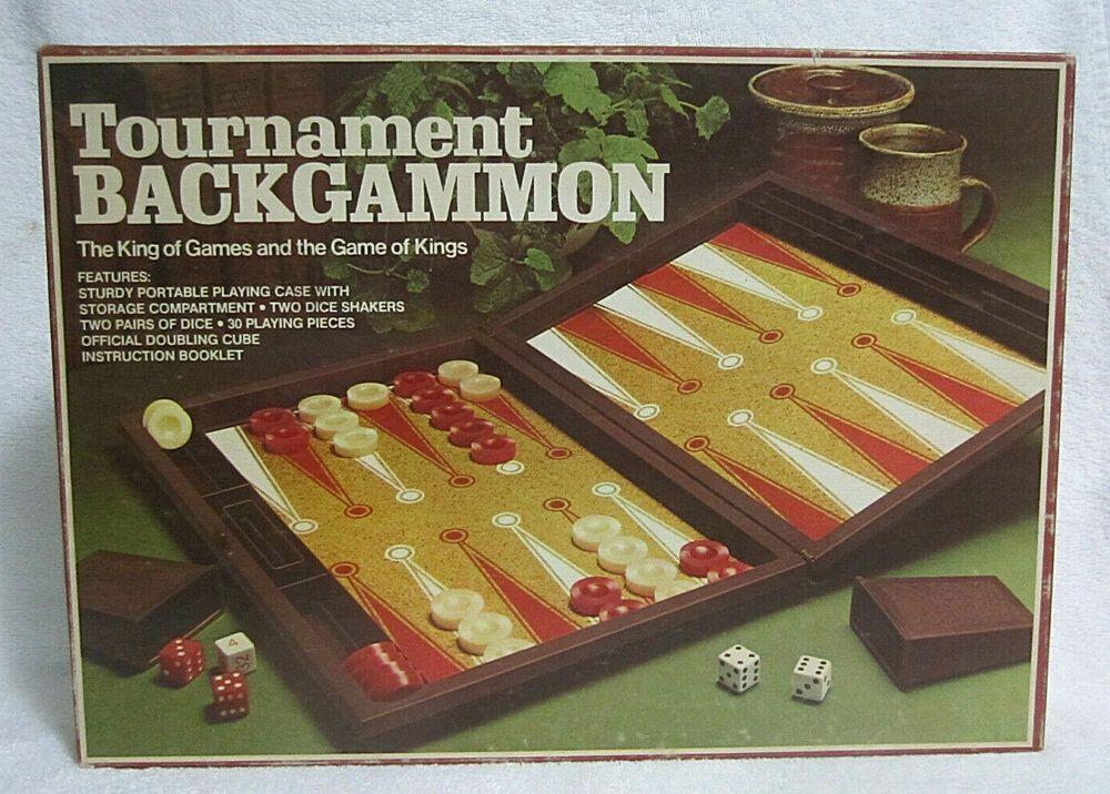 Vintage Backgammon Set Full Size Game In Case Retro 70s Never