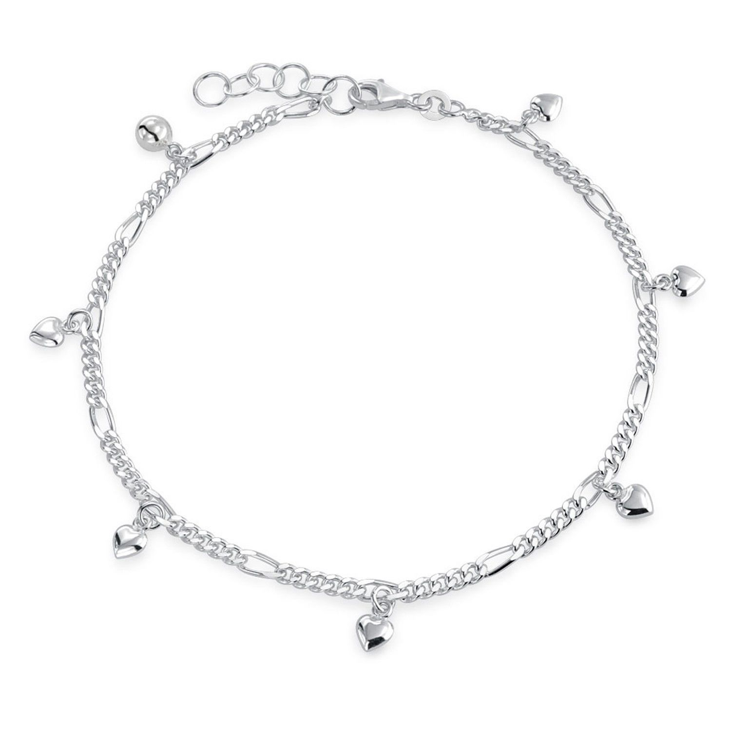 ankle chain women product anklets foot fine real jewelry bracelets bracelet silver anklet crystal for heart
