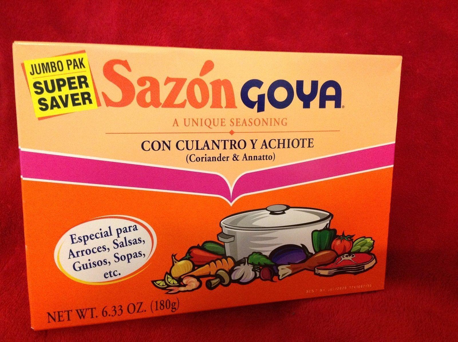 1 Box Sazon Goya Seasoning Jumbo Pak 36 Packets Usa Free