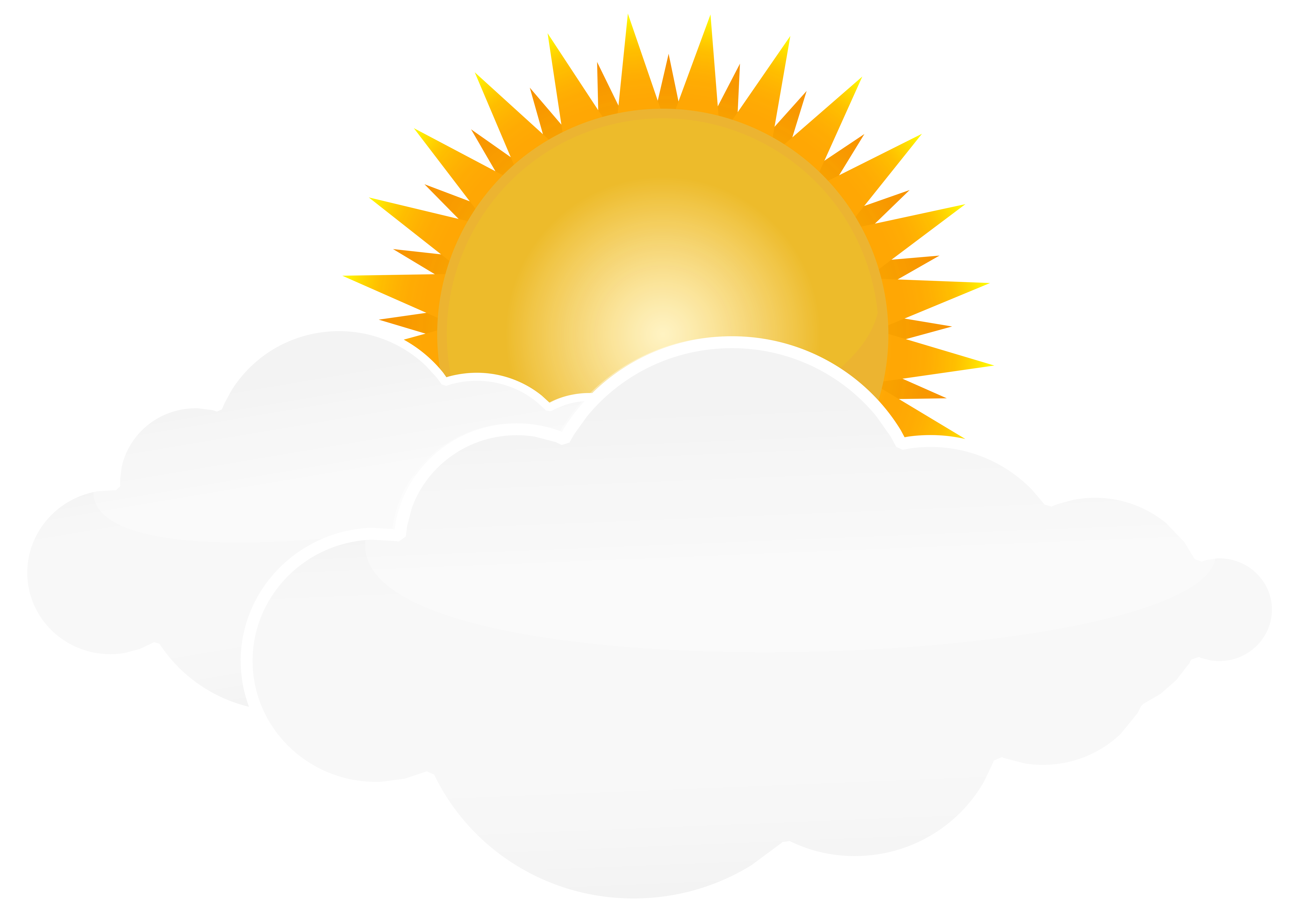 Sun And Clouds Clipart Png Sun And Clouds Cloud Drawing Cloud Illustration