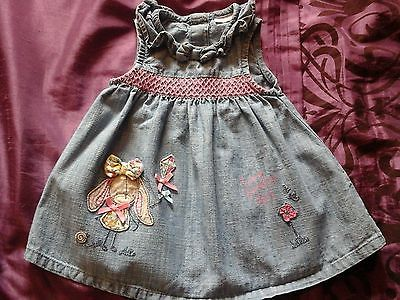 60bg baby #girls 0-3 #months light #weight denim dress from next