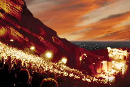 One of the best places on the planet. Red Rocks Amphitheater in CO