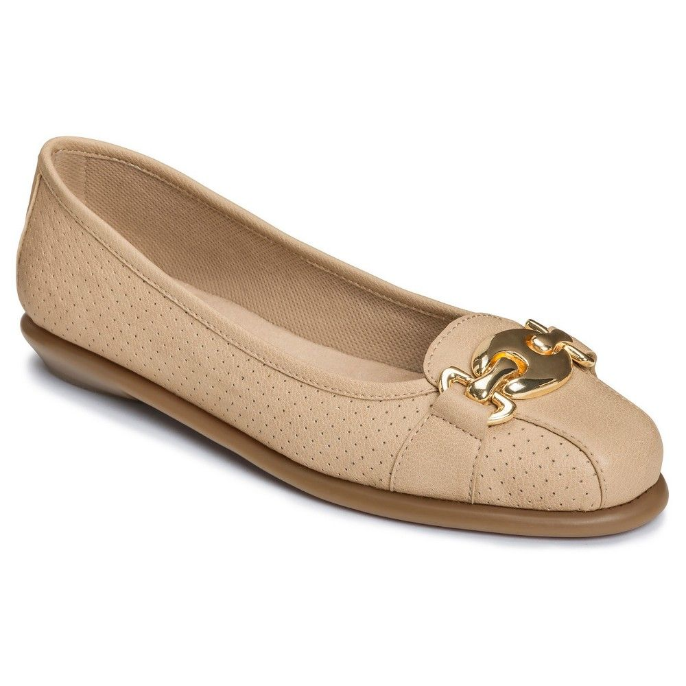 d8b4d7442c3 Women s A2 by Aerosoles In Between Perforated Loafers - Bone (Ivory ...