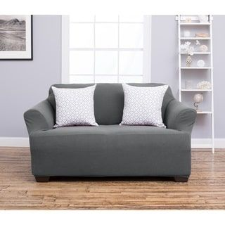 Amilio Collection Heavyweight Stretch Loveseat Slipcover RV