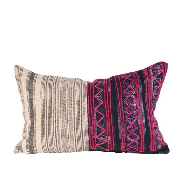 Indigo Hmong Textile Pillow - House of Cindy