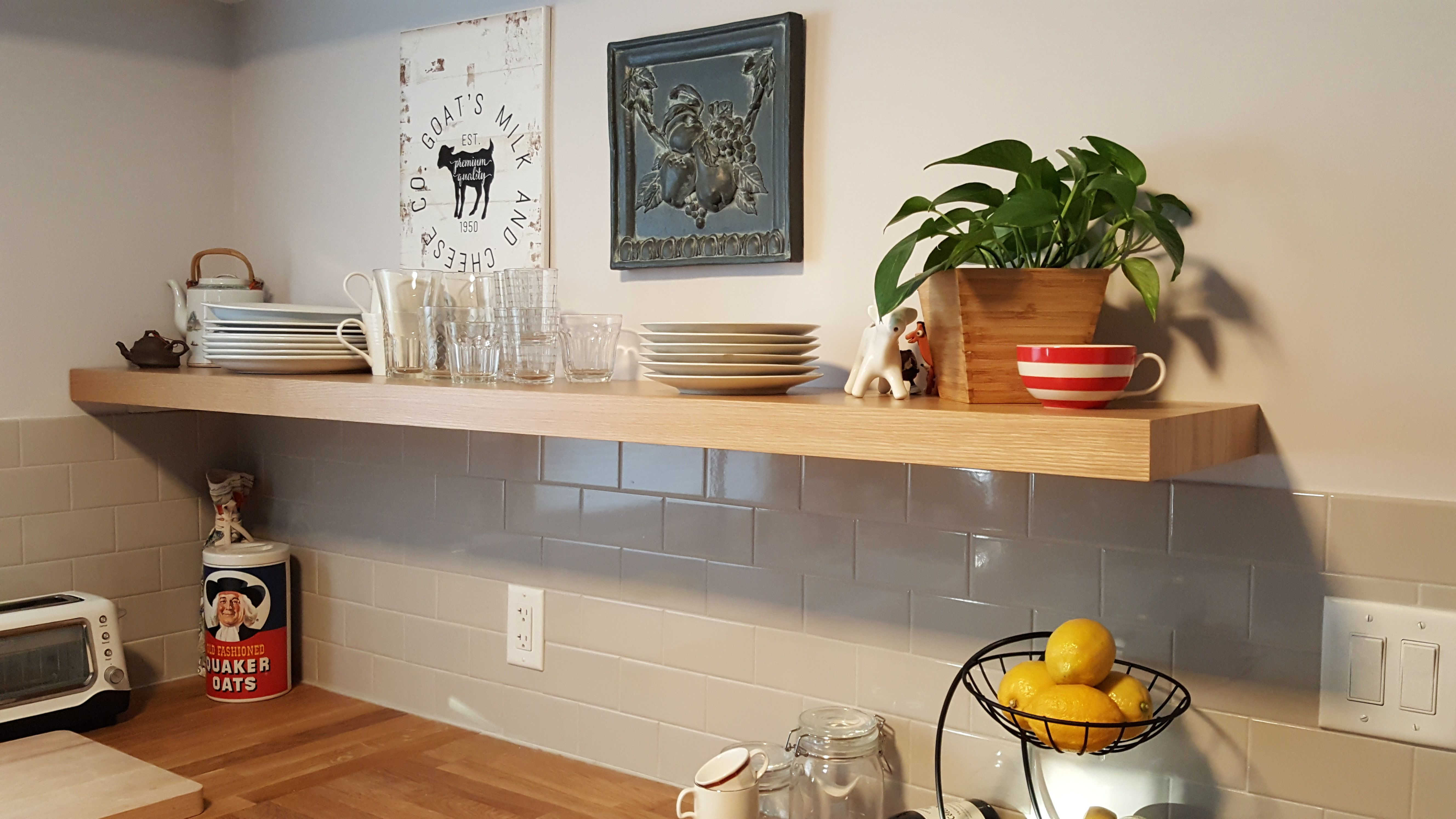 Here Is Our Customer, Steve, Kitchen Floating Shelf How Awesome