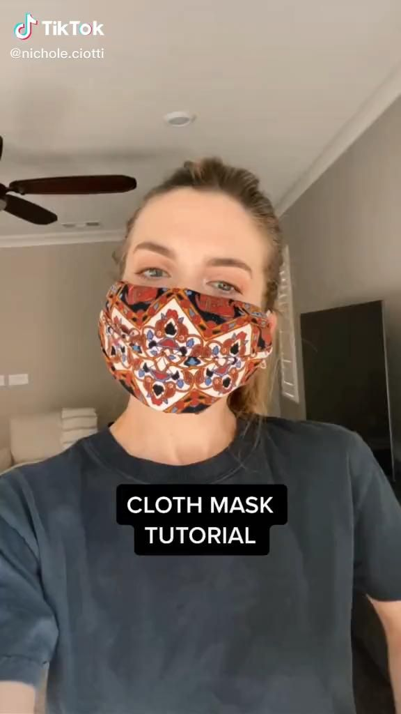 Easy How To Make Your Own Face Mask Fashion Ootd Tiktok Video Funny Face Mask Diy Face Easy Face Masks