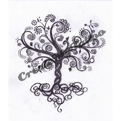 pomegranate tree tattoo design inked pinterest. Black Bedroom Furniture Sets. Home Design Ideas