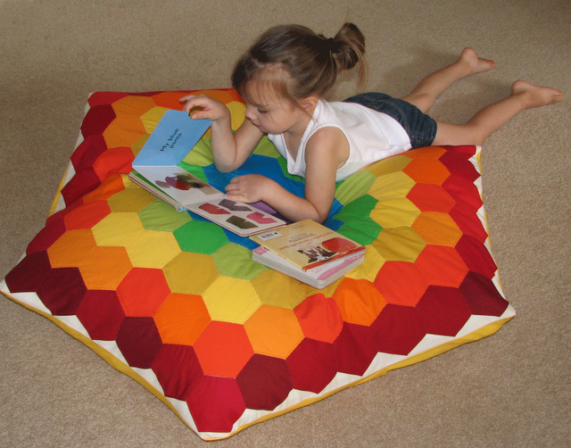 Rainbow Hexie Floor Pillow tutorial || Sew Fantastic | | DIY ...