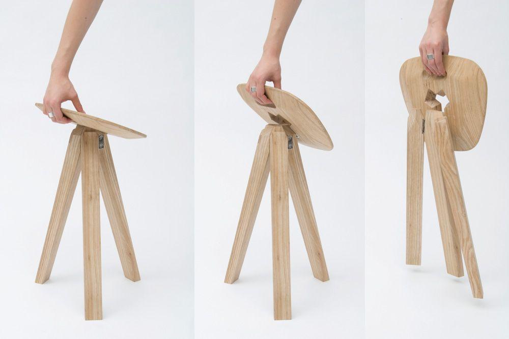 folding stool tabouret minimaliste sign jack smith tabouret ouvert et meubles. Black Bedroom Furniture Sets. Home Design Ideas