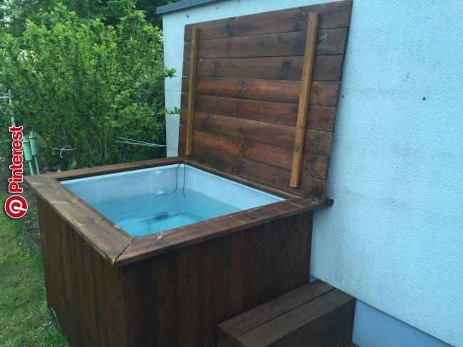 Diy Whirlpool Der Deckel Ideen Rund Ums Haus In 2019 Pinterest Diy Pool Outdoor Tub And Diy Swimming Pool Badewanne Garten Whirlpool Garten Whirlpool Selber Bauen