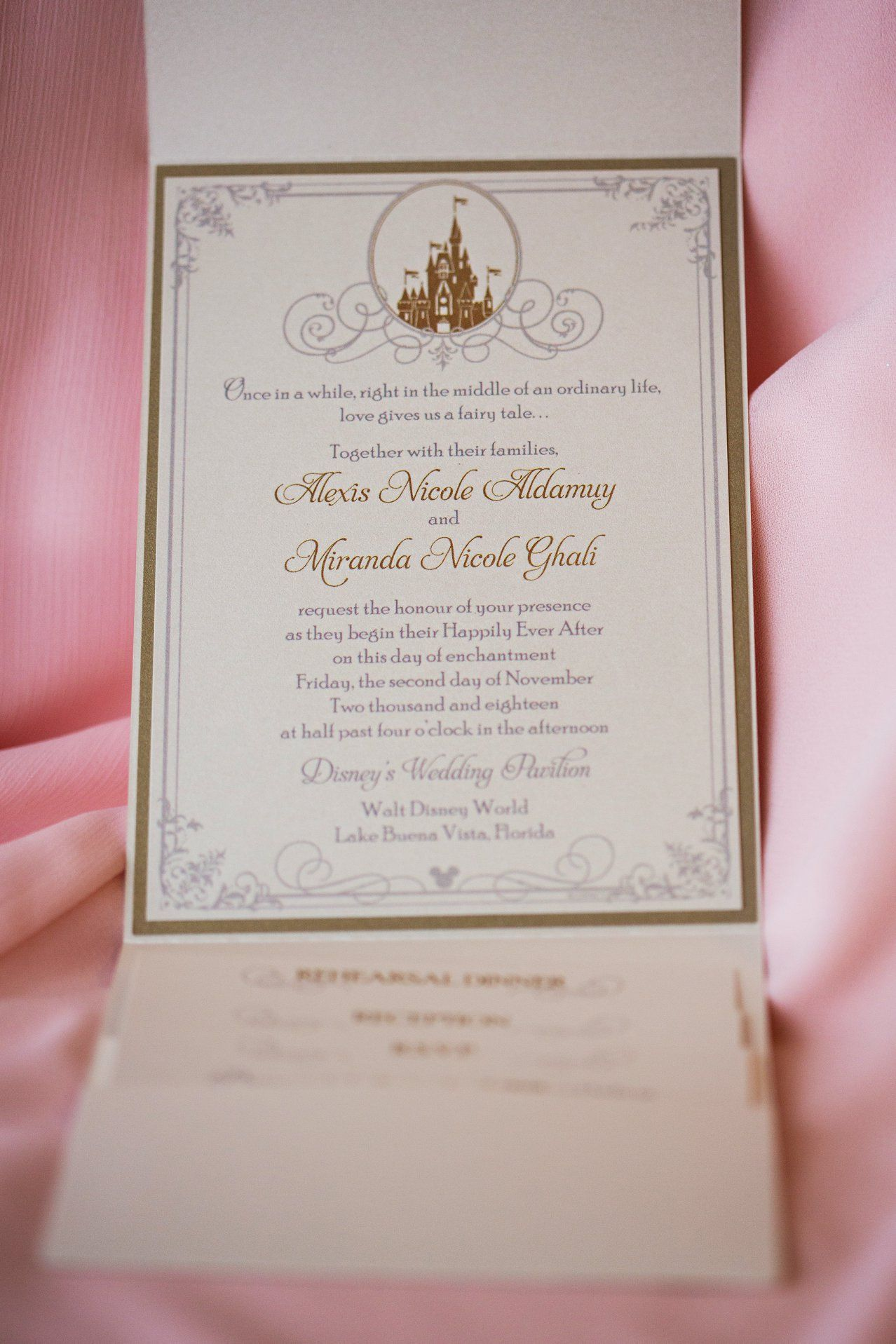 Disney Fairy Tale Wedding Invitations Disney Wedding Invitations Fairytale Invitation Princess Wedding Invitations