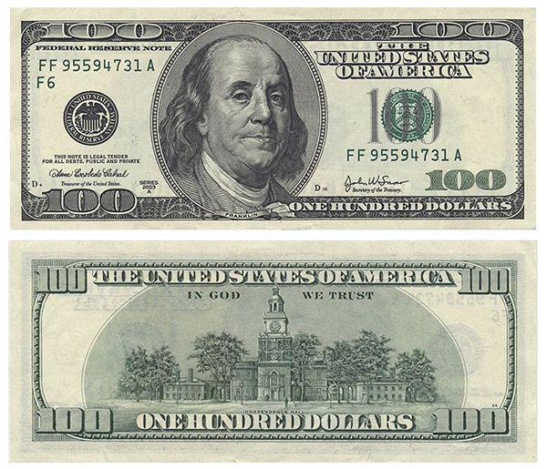 100 Dollar Bill Back And Front I8 Jpeg 600 515 Pixels 100 Dollar Bill Money Printables Fake Money Printable