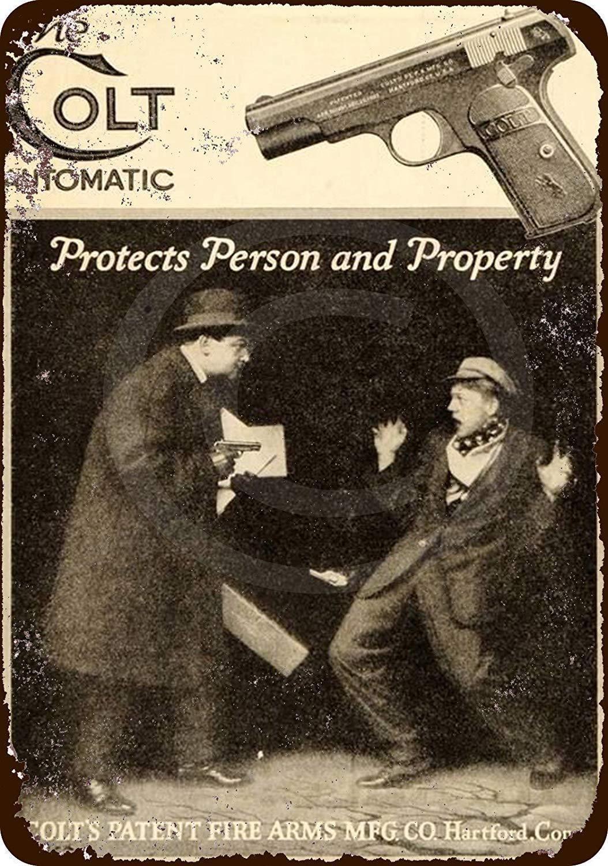 Vintage Look Reproduction Metal Sign 1933 Colt Woodsman .22 Pistol