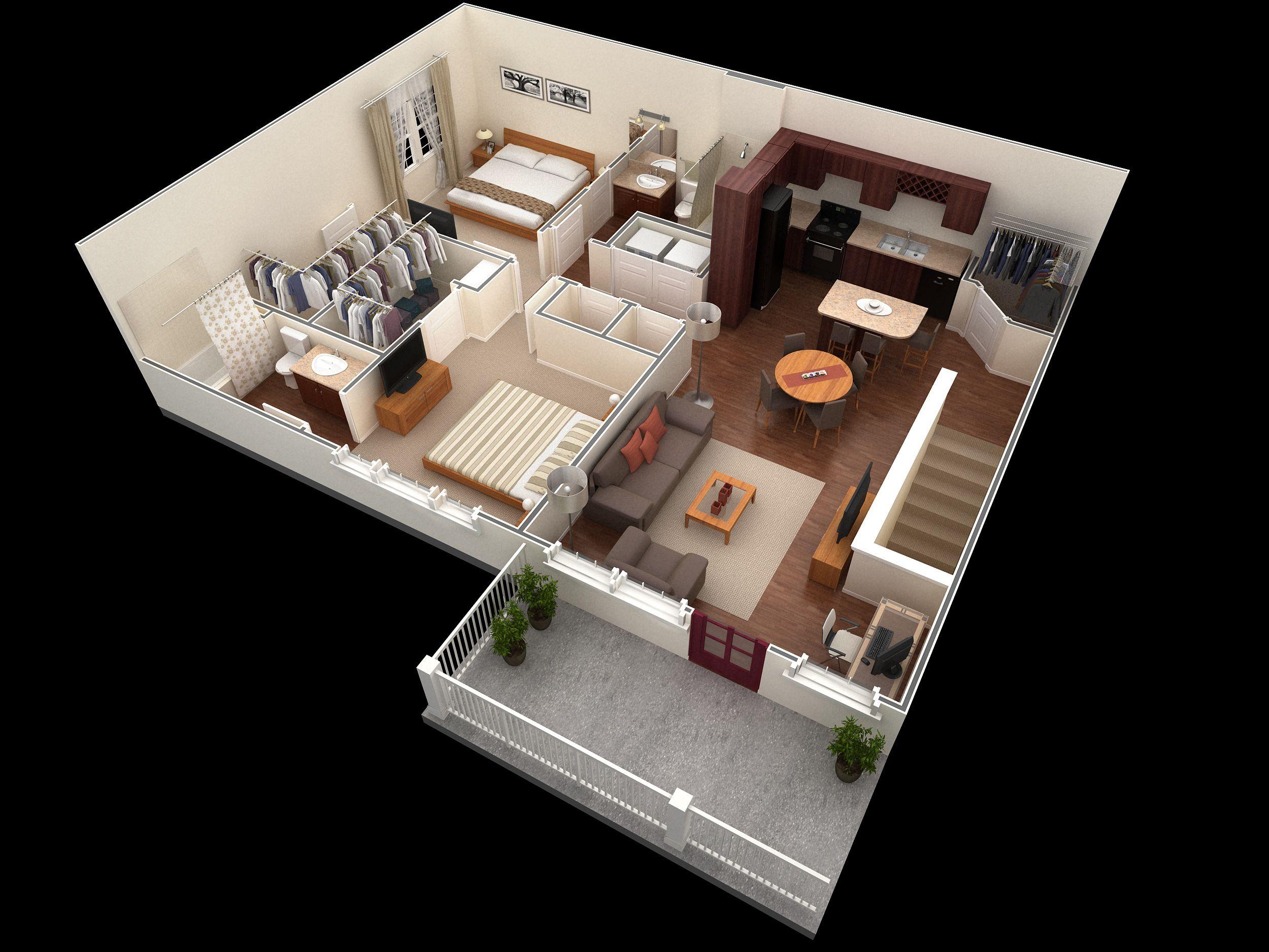 2 Bedroom Designer Overlook Apartment: 2 bedroom, 2 bath 1152 sf ...