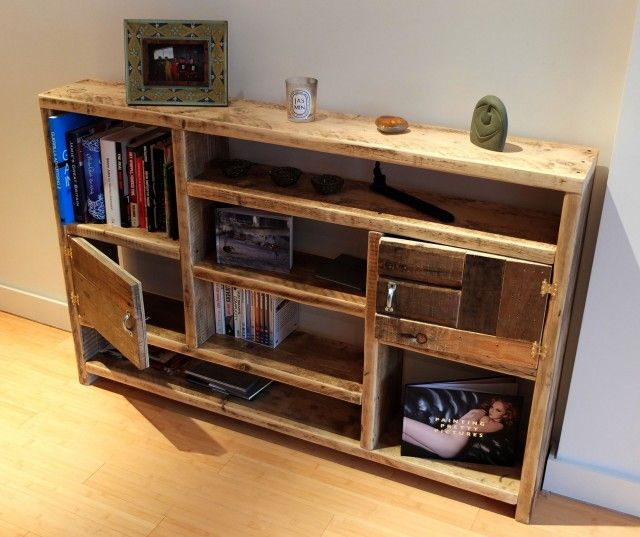 re-claimed wood = shelving