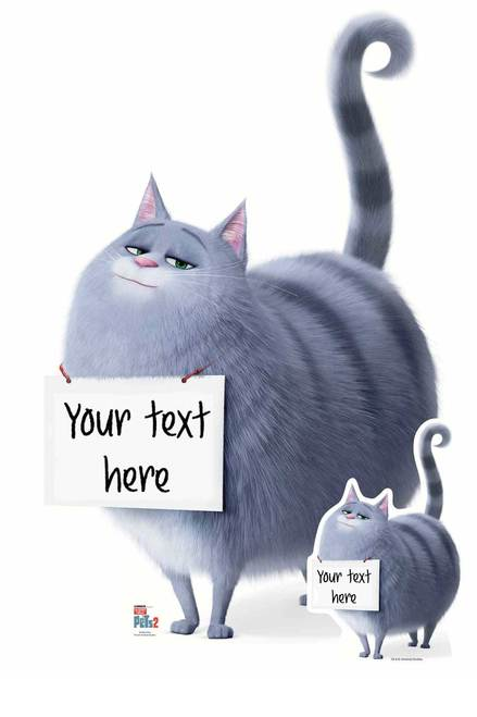 Chloe From The Secret Life Of Pets 2 Personalised Cardboard Cutout Standup Secret Life Of Pets Secret Life Cardboard Cutout