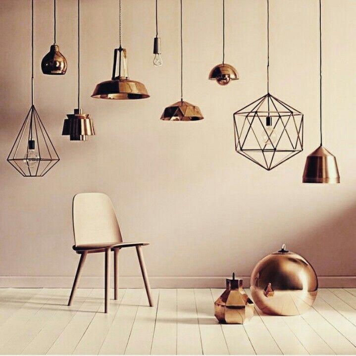 lumin res d cor maison luminaire cuivre deco rose. Black Bedroom Furniture Sets. Home Design Ideas