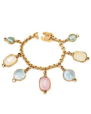 Chanel Gripoix Charm Bracelet