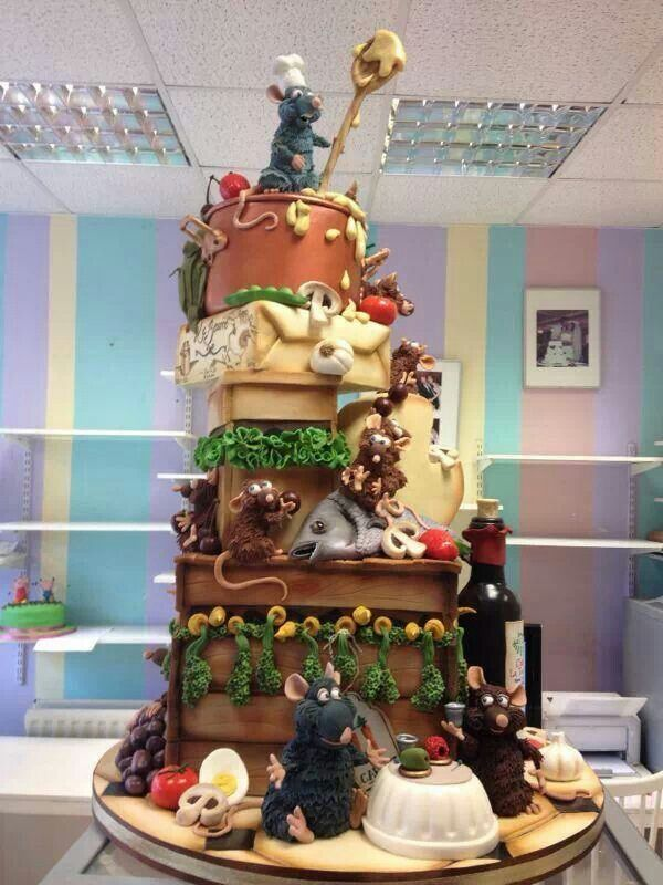 Pleasant Ratatouille Cake Disney Taarten Personalised Birthday Cards Akebfashionlily Jamesorg