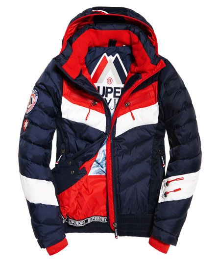 734f8d5c0c964 Mens - Scuba Carve Hooded Jacket in Navy/red | Superdry | Jackets ...