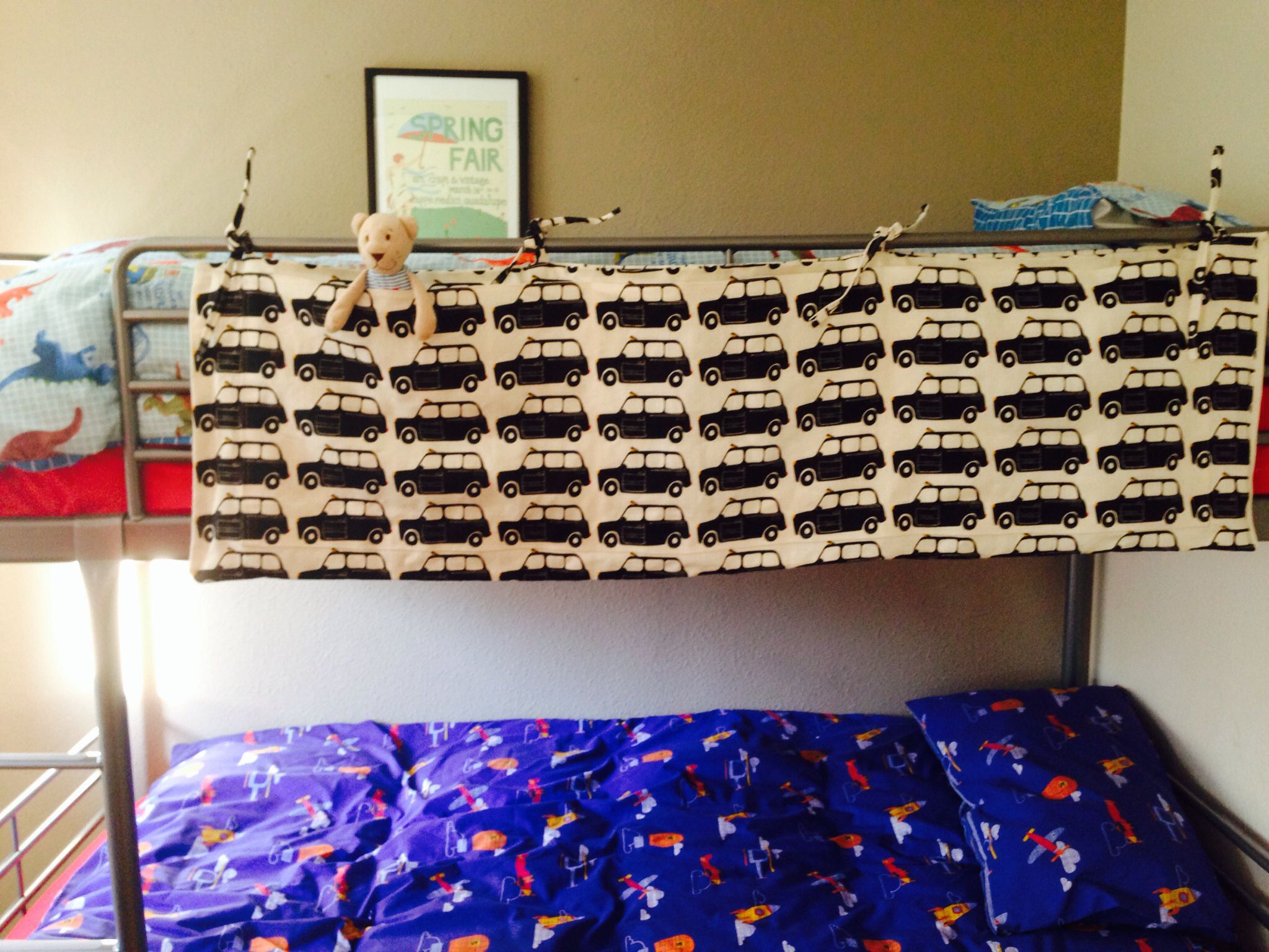 Bunk bed storage Bed storage, Bunk beds, Valance curtains