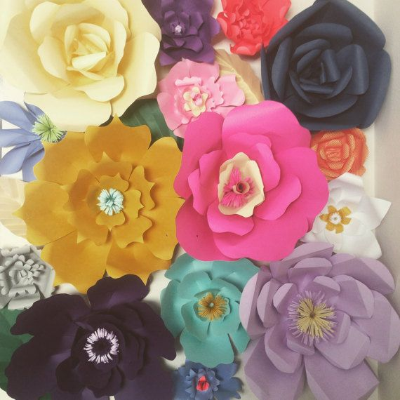 Handmade Colorful Paper Flower Backdrop For Decoration Paper