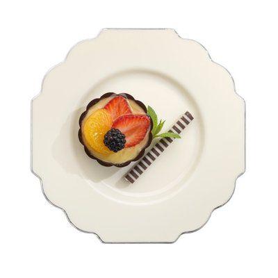 10 pc Baroque Bone Small Plastic Pastry Plates  sc 1 st  Pinterest & Baroque Bone Plastic Dessert Plates-possible plates for cake ...