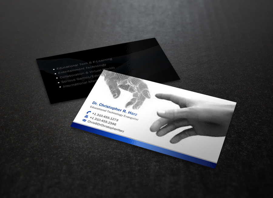 An electric business card for virtual reality expert by indezyn ...