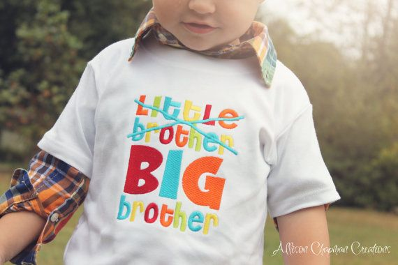 Little Brother Big Brother shirt by AChapmanCreations on Etsy, $22.00 *For Brock*