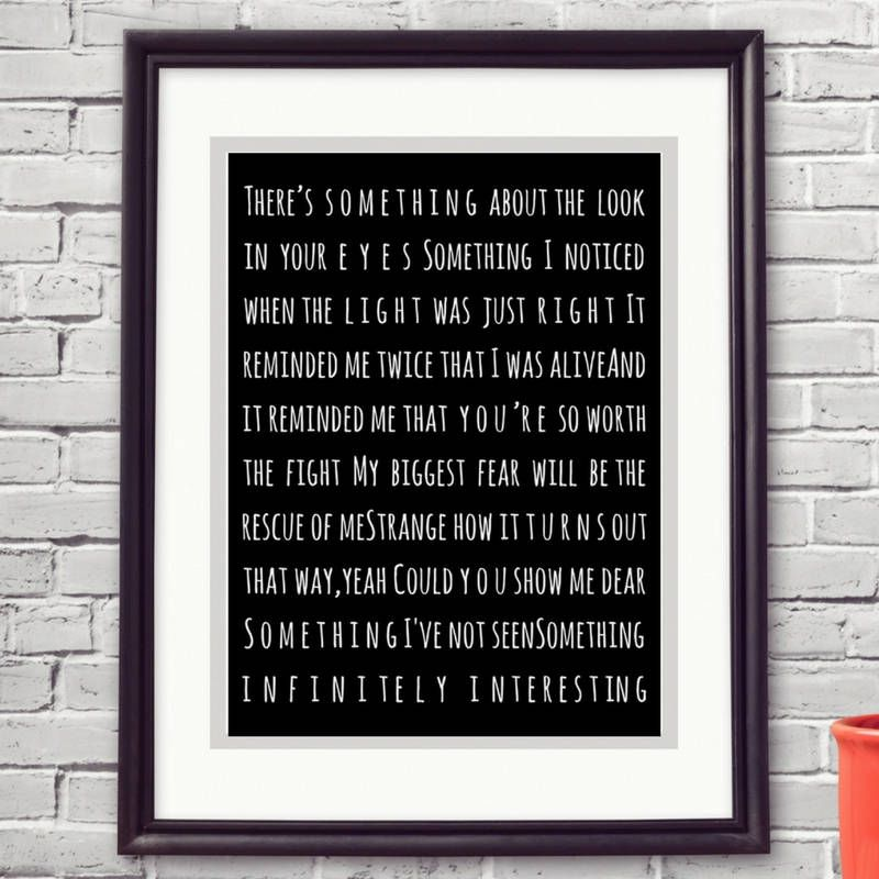 Incubus Echo Lyrics, Anniversary Wedding Engagment Valentines Gift ...