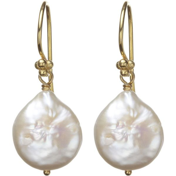 Nikki Baker Coin Pearl Earring ($257) found on Polyvore