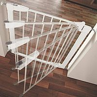 Self Closing Gate For Stairs Playroom Pinterest Gate Metal