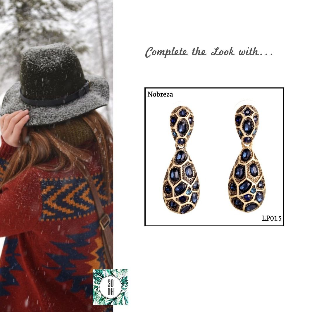 Ref: LP015 Nobreza Medidas: 4.3 cm x 1.5 cm So Oh: 7.99  #sooh_store #onlinestore #style #inspiration #styleinspiration #brincos #earrings #fashion #shoponline #aw2016 #aw1617 #winterstyle