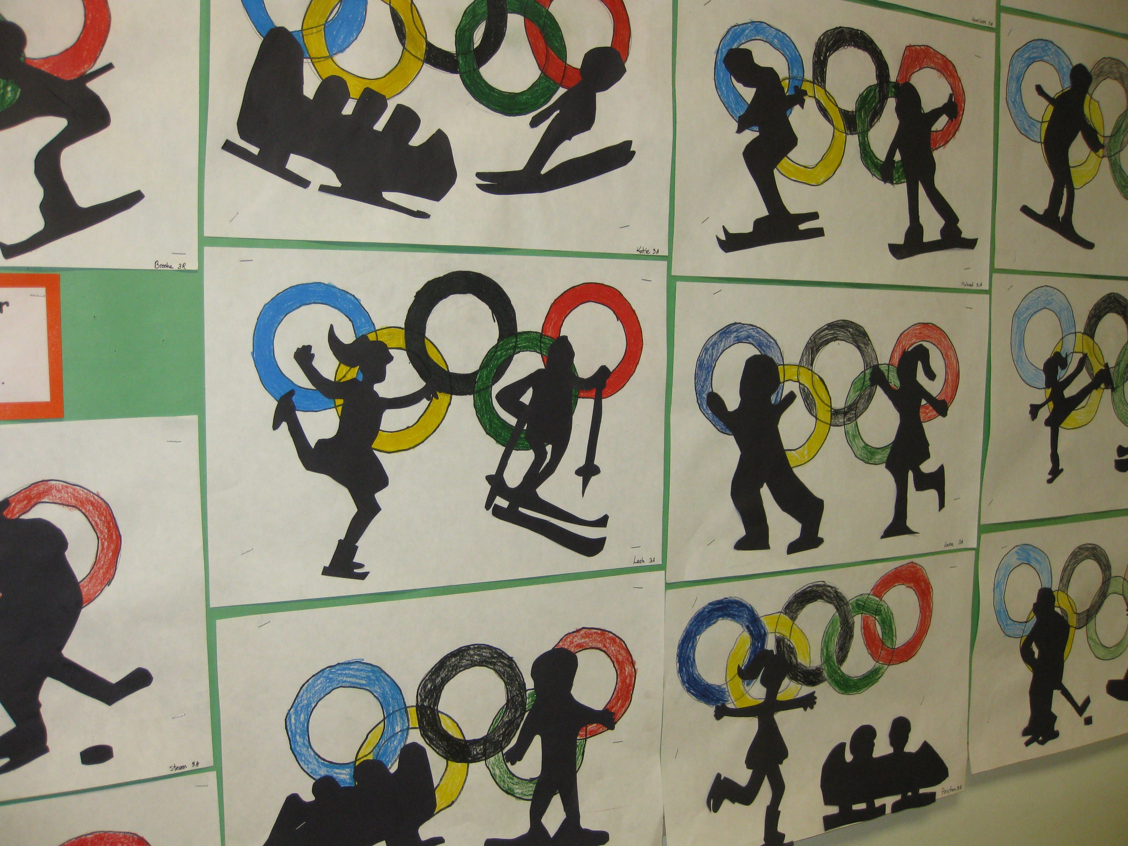 Olympic Silhouettes- gr. 3 | My creative students! (Projects created ...